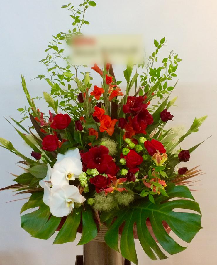 【納品事例1】関内の企業様にてお祝いスタンド花を納品しました