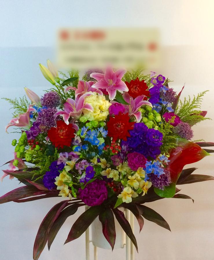 【納品事例2】関内の飲食店様にてお祝いスタンド花を納品しました