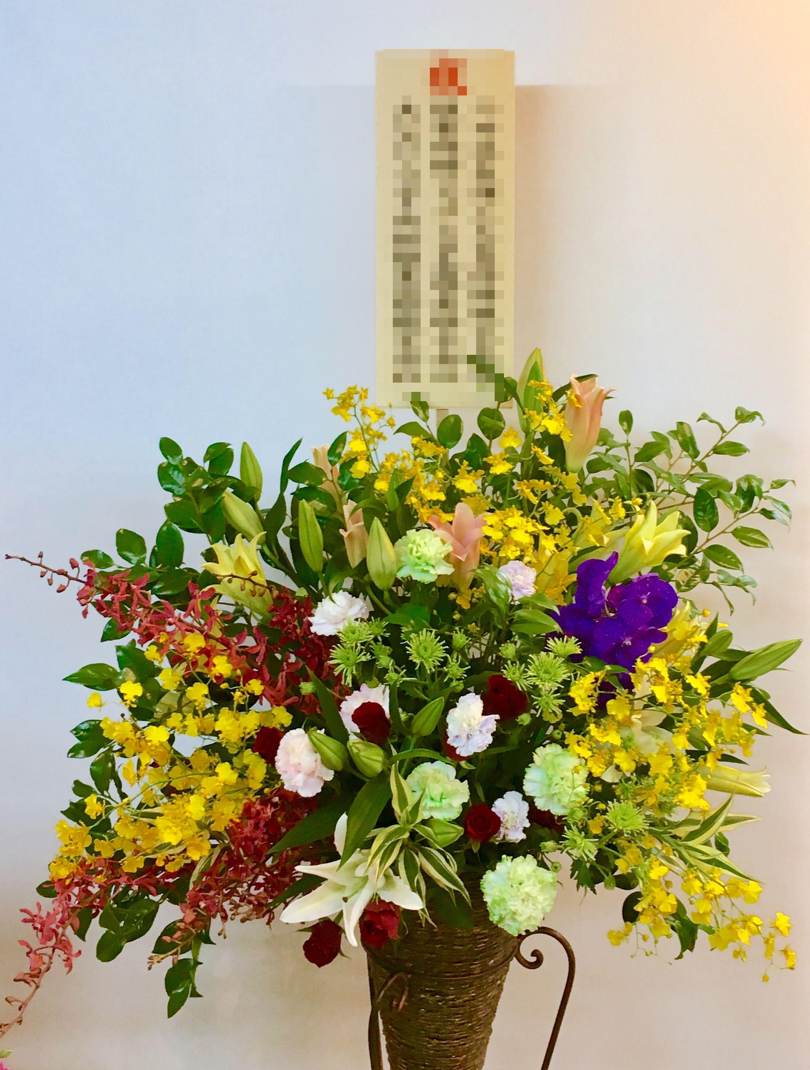 【お花納品事例21】横浜市関内の飲食店にスタンド花を配達しました!