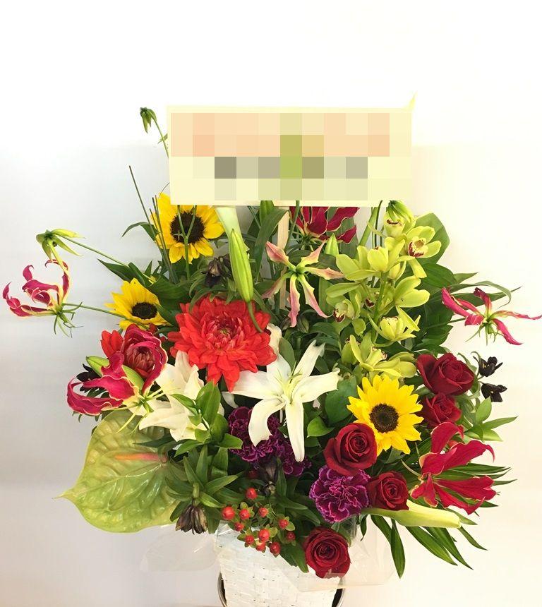 【お花納品事例22】横浜市関内の法人企業様にスタンド花を配達しました!
