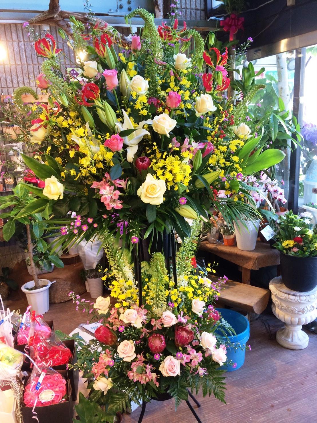 【ナオ花屋の納品事例32】横浜市関内の法人企業様へプリザーブドフラワーを配達しました。