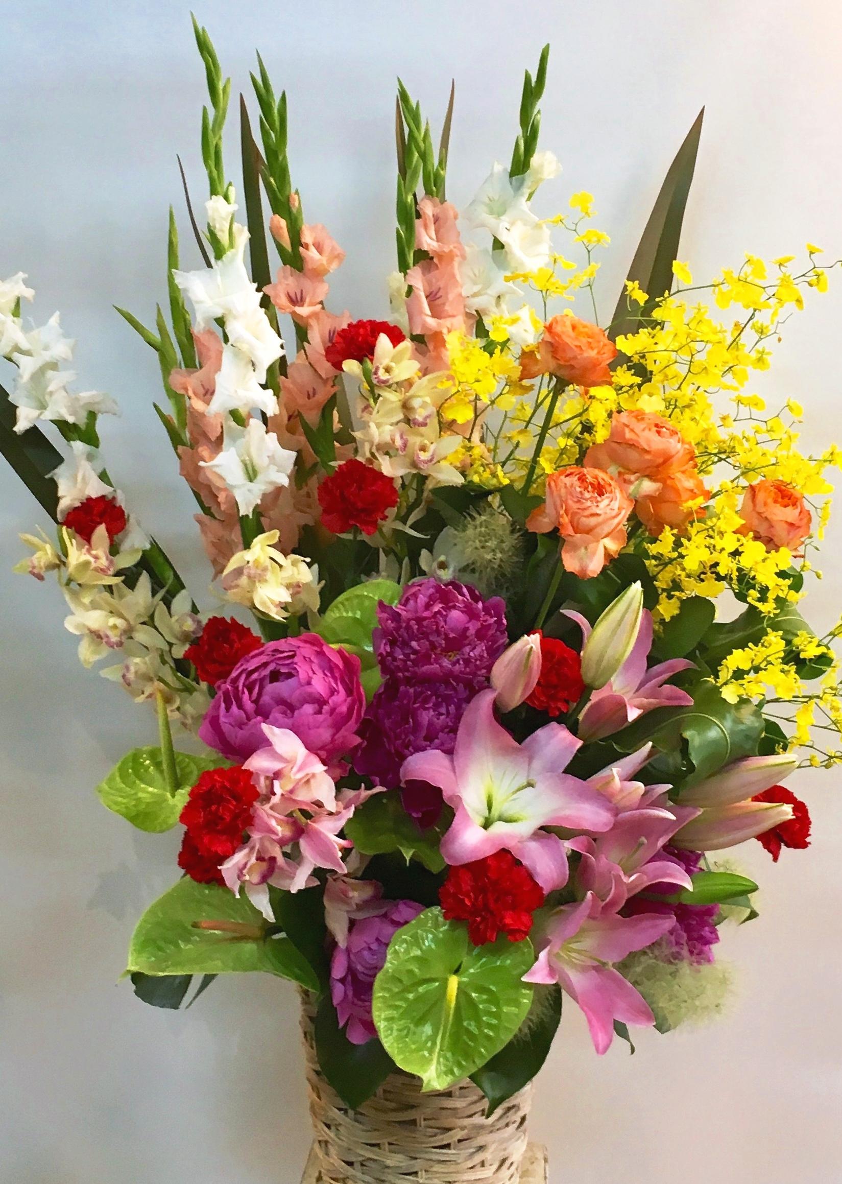 【ナオ花屋の納品事例49】横浜市関内の法人企業様へスタンド花を配達しました!