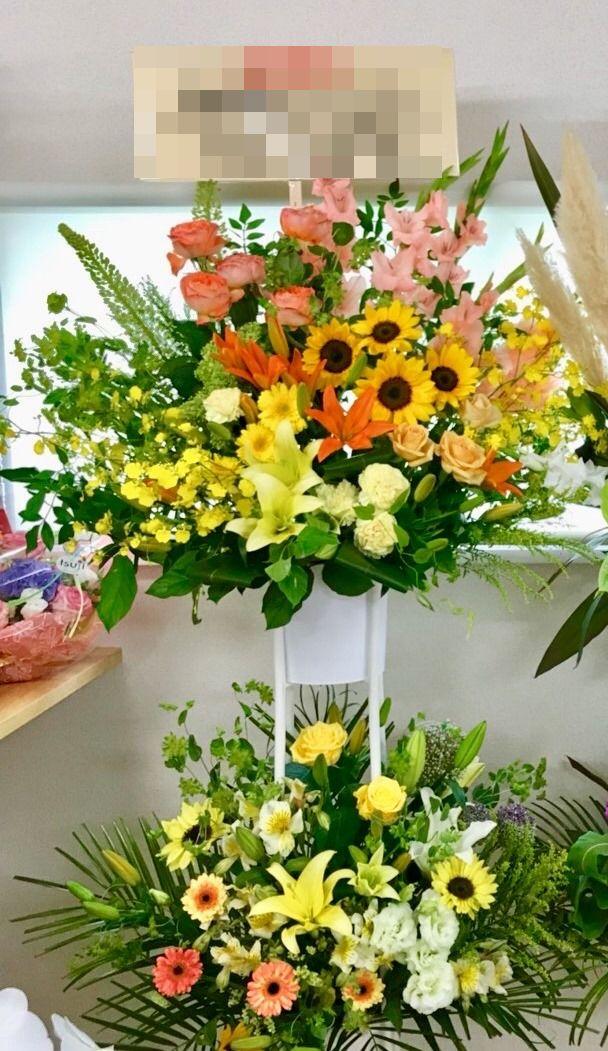 【ナオ花屋の納品事例47】横浜市関内の法人企業様へスタンド花を配達しました!