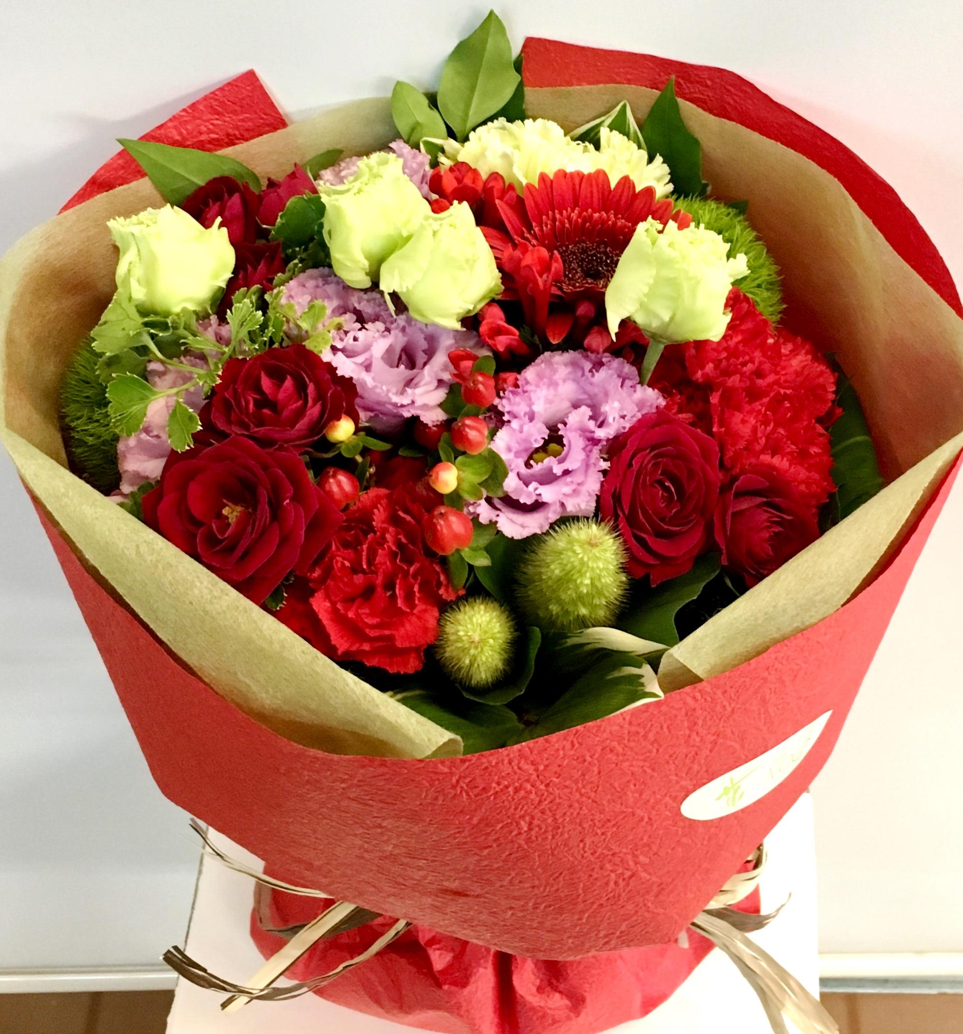 【ナオ花屋の納品事例59】横浜市関内尾上町の法人企業様へ花束を配達しました!