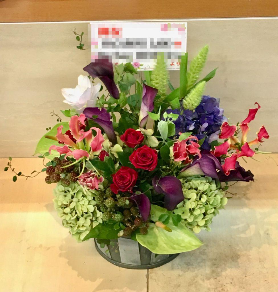 【ナオ花屋の納品事例68】横浜市関内の法人企業様へアレンジメントを配達しました!