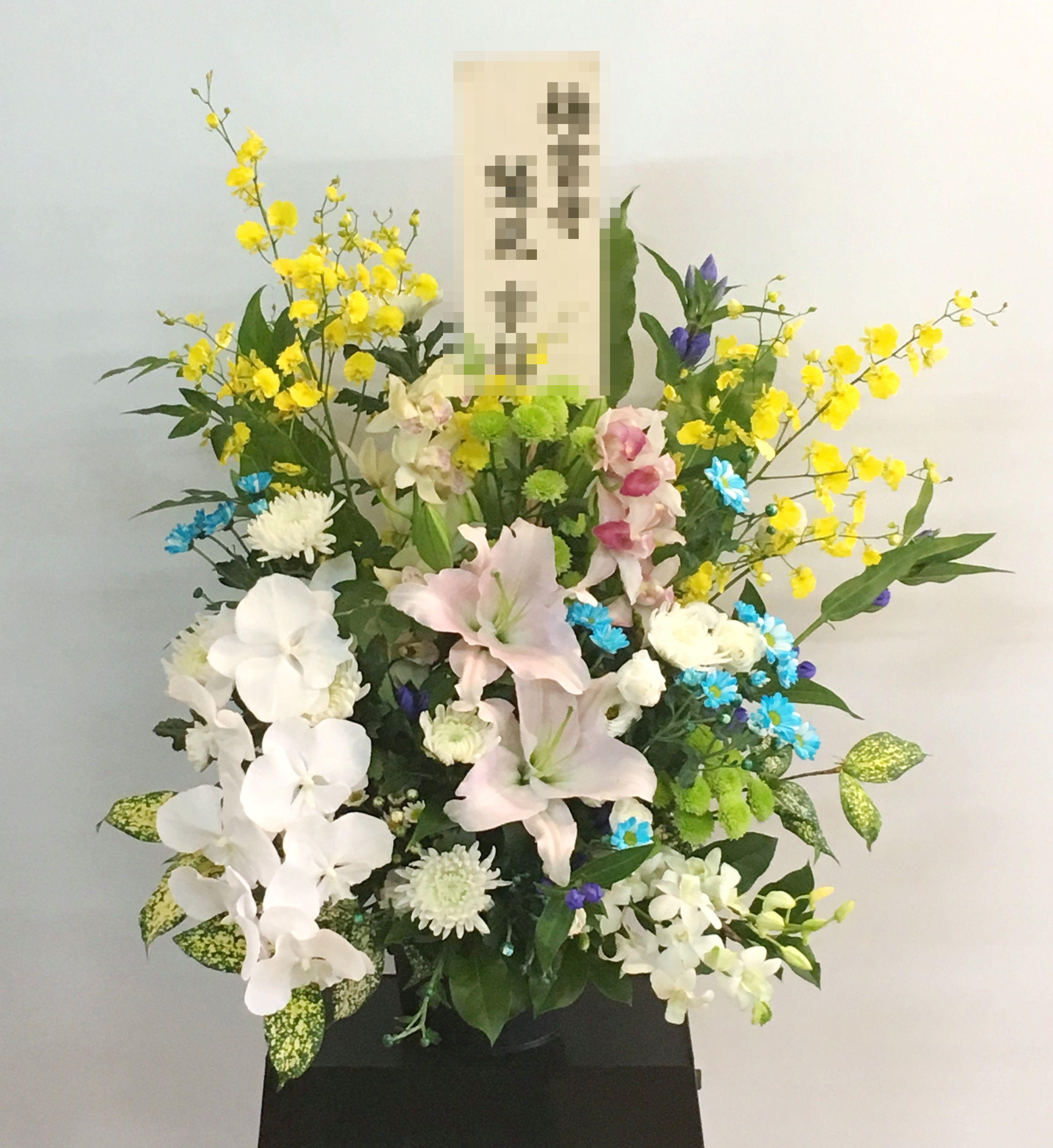 【ナオ花屋の納品事例85】横浜市のお寺さんへお供えアレンジメントを配達しました!