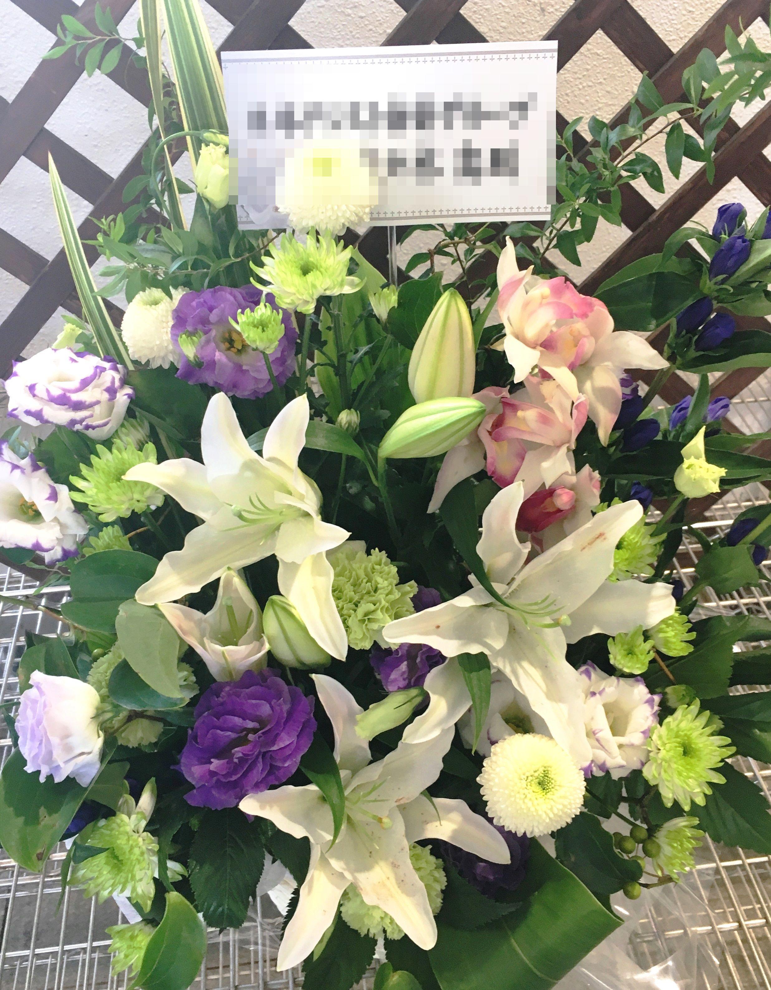 【ナオ花屋の納品事例82】横浜関内の法人企業様よりお供え花を配達しました!