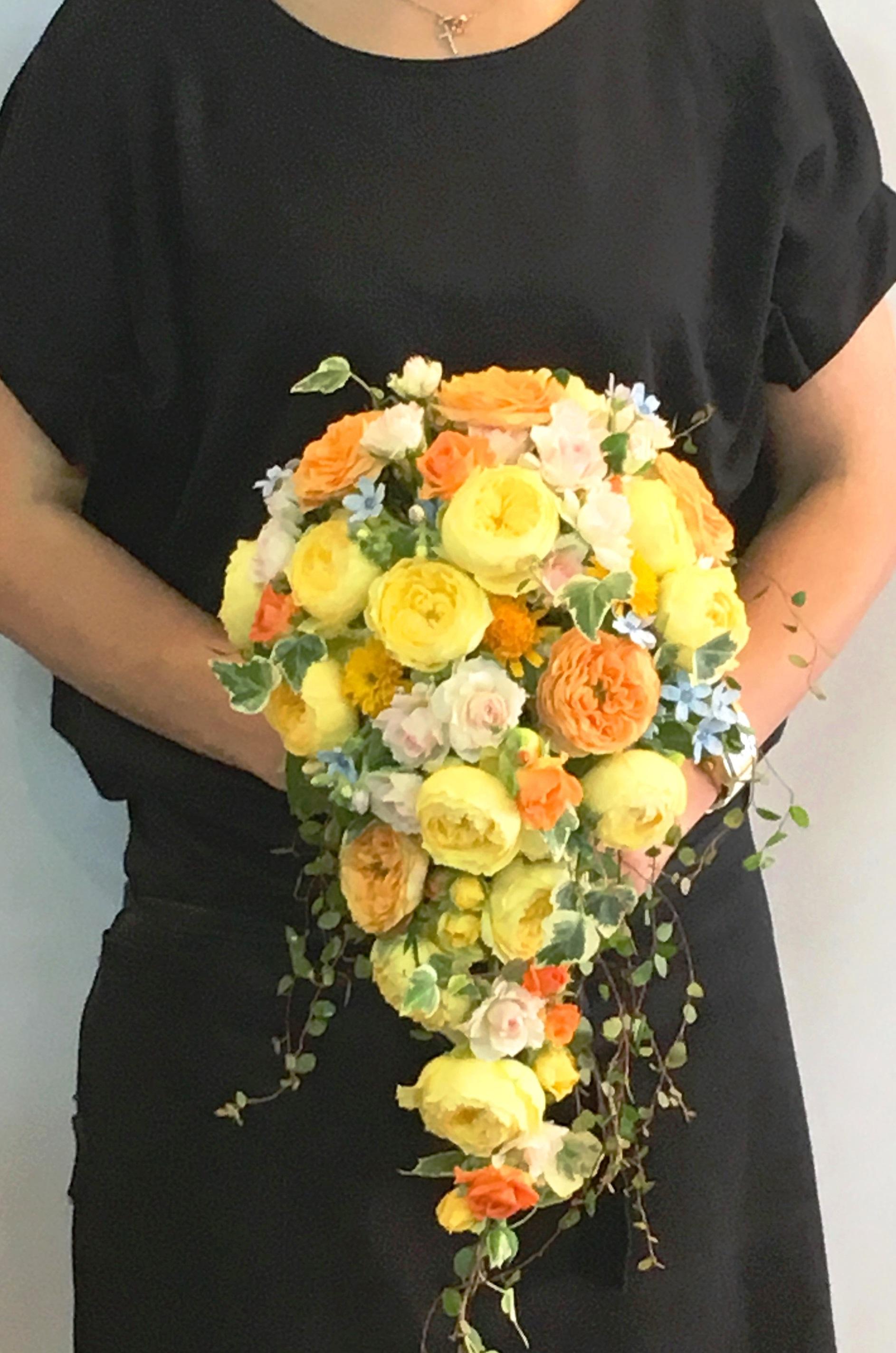 【ナオ花屋の納品事例87】横浜市みなとみらいの結婚式場へウエディングブーケを配達しました!