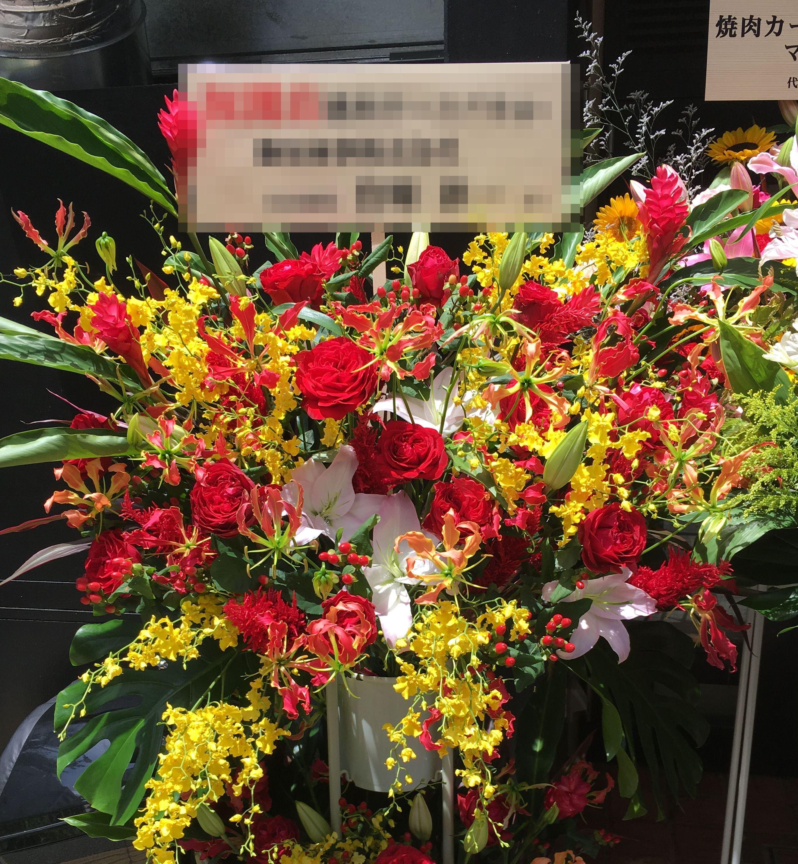 【ナオ花屋の納品事例105】横浜市関内福富町の法人企業様へスタンド花を配達しました!