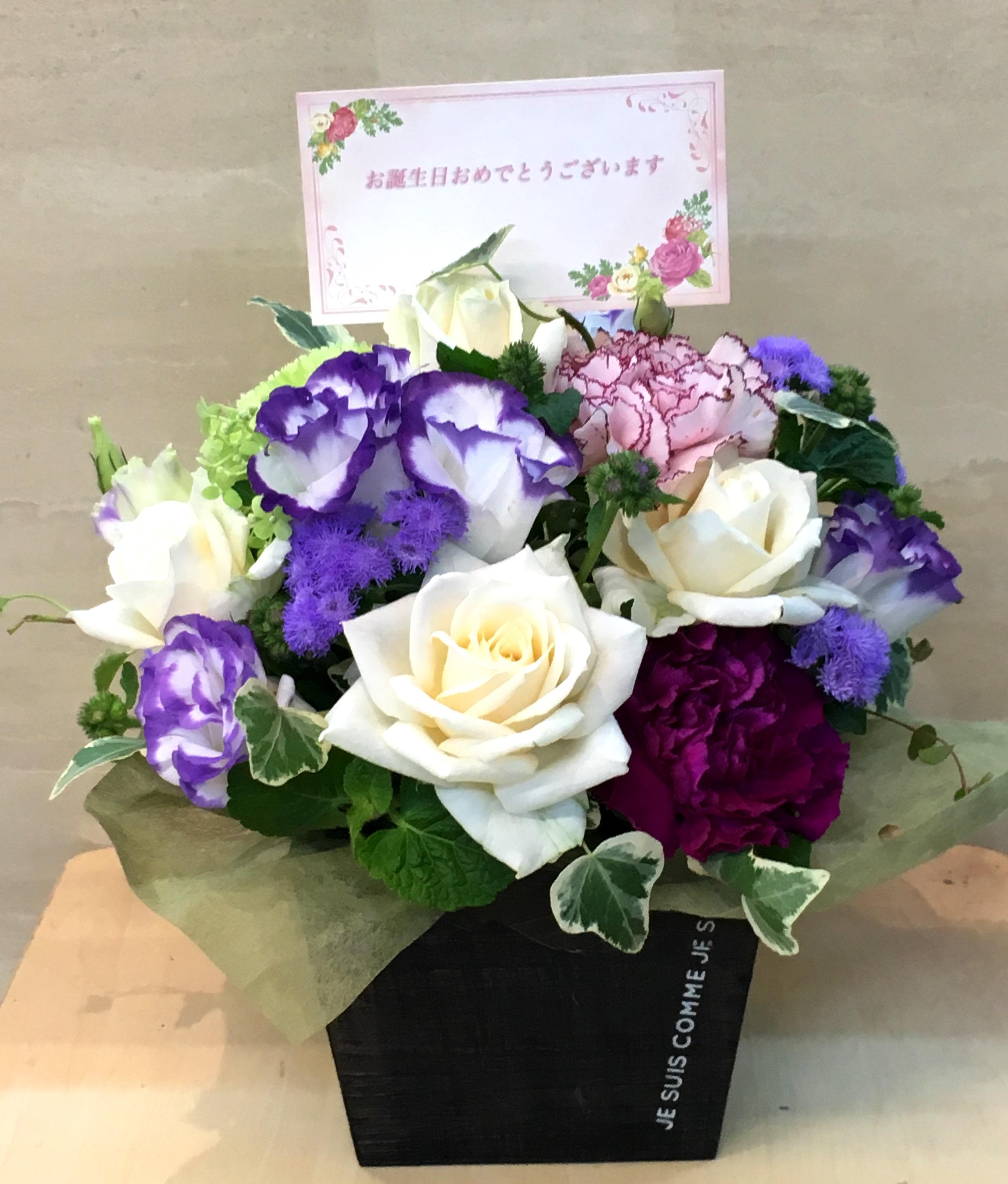 【ナオ花屋の納品事例96】横浜市関内の法人企業様へアレンジメントを配達しました!