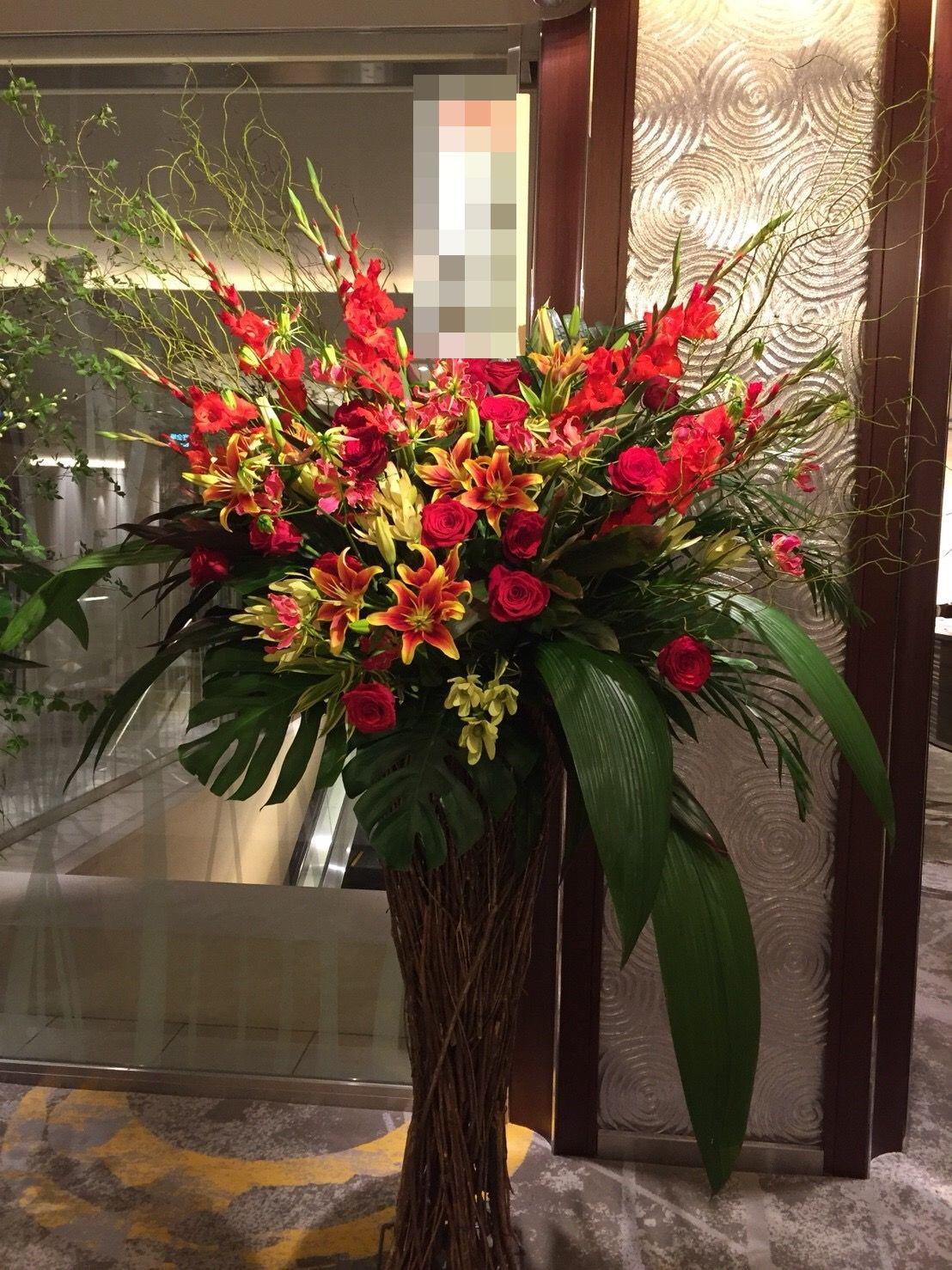 【ナオ花屋の納品事例127】横浜市関内の法人企業様よりスタンド花を配達しました!