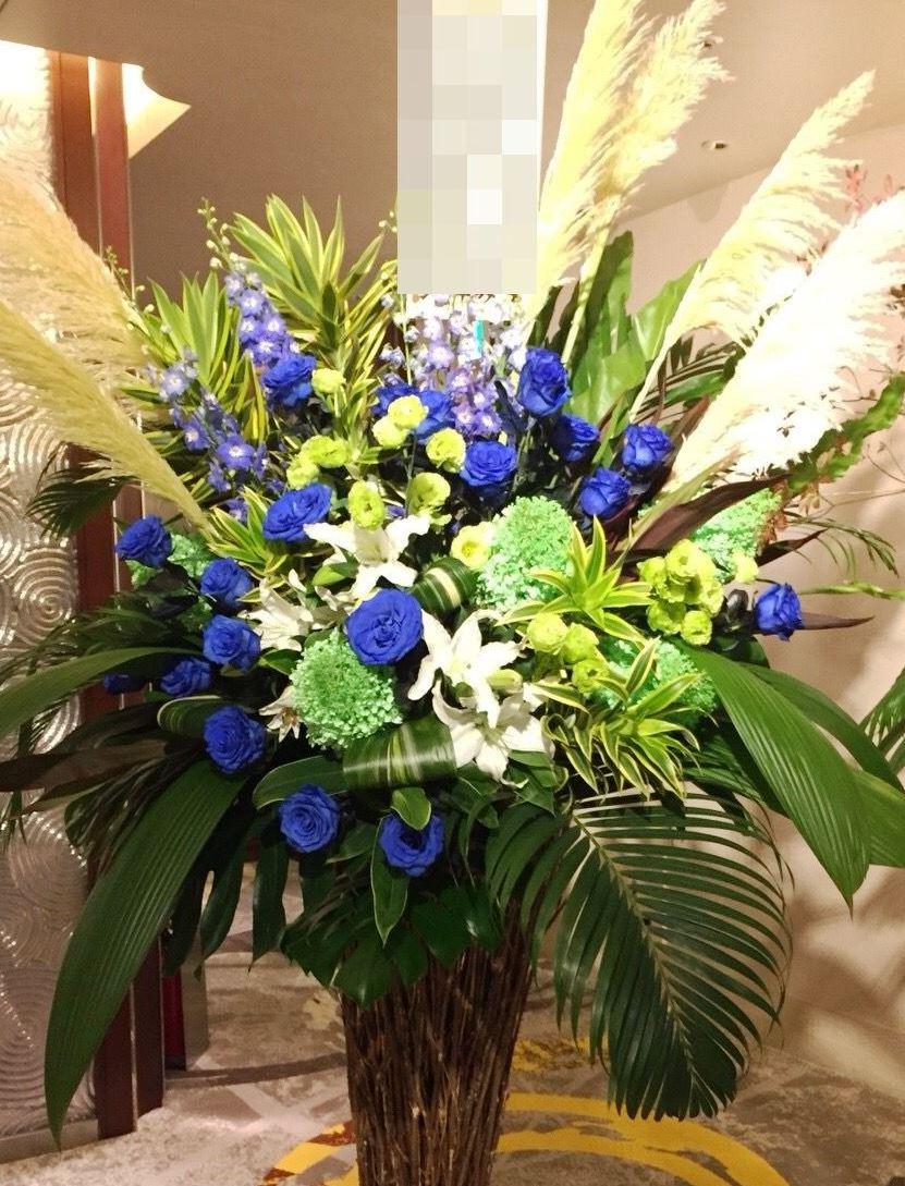 【ナオ花屋の納品事例136】横浜市中区関内の法人企業様へスタンド花を配達しました!