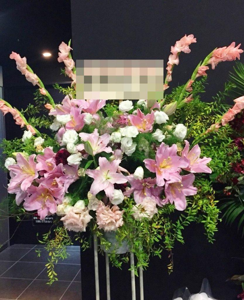【ナオ花屋の納品事例160】横浜市関内の法人企業様へスタンド花を配達しました!