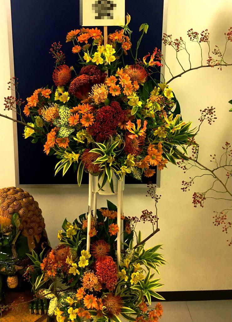 【ナオ花屋の納品事例165】横浜市桜木町ゴールデンギャラリーへスタンド花を配達しました!