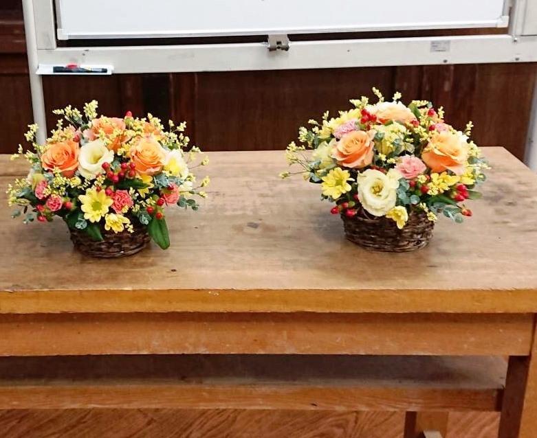 【ナオ花屋の納品事例166】横浜市関内福富町の法人企業様へアレンジメントを配達しました!