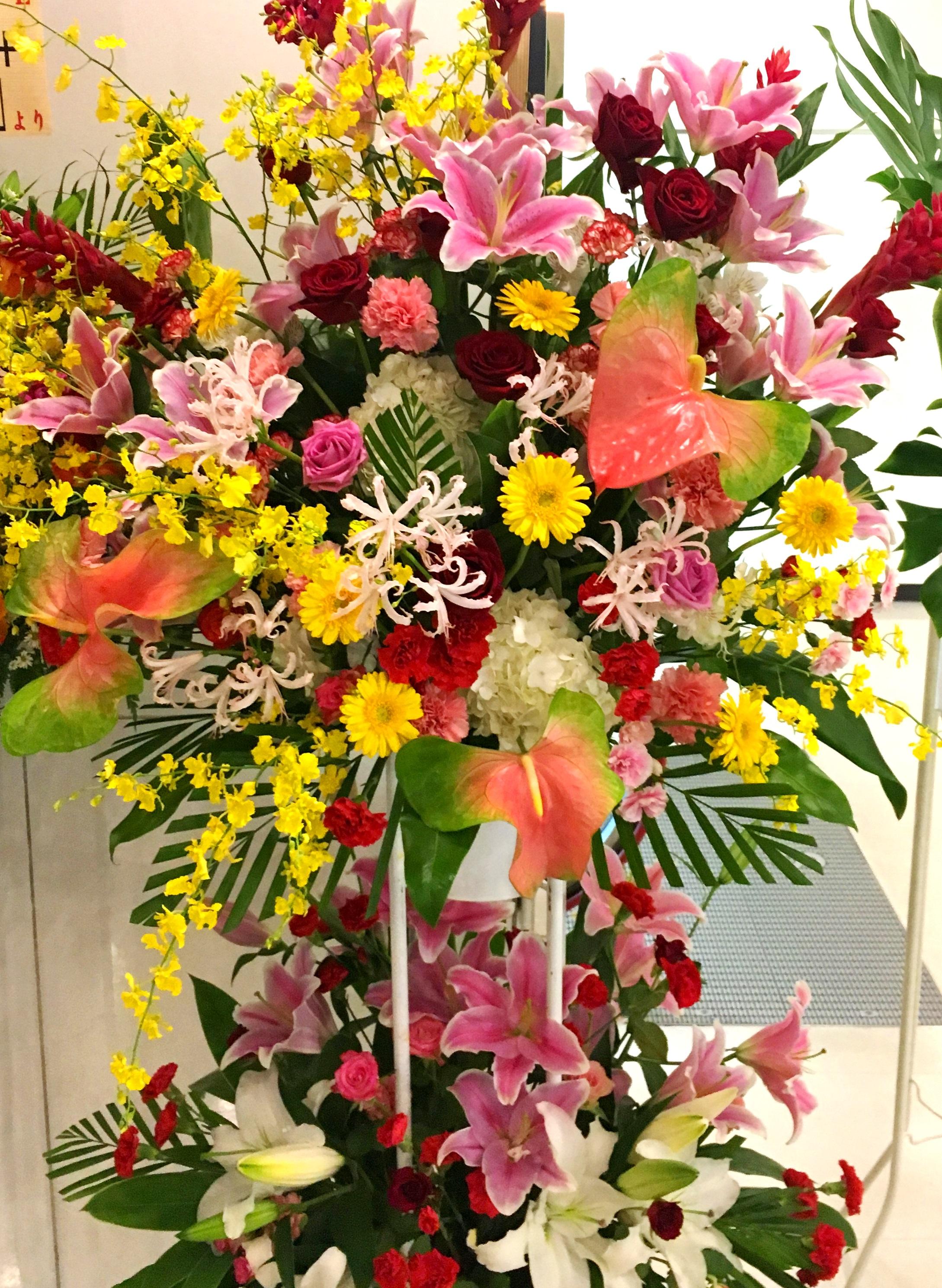 【ナオ花屋の納品事例173】横浜市西区相鉄ムービルへスタンド花を配達しました!