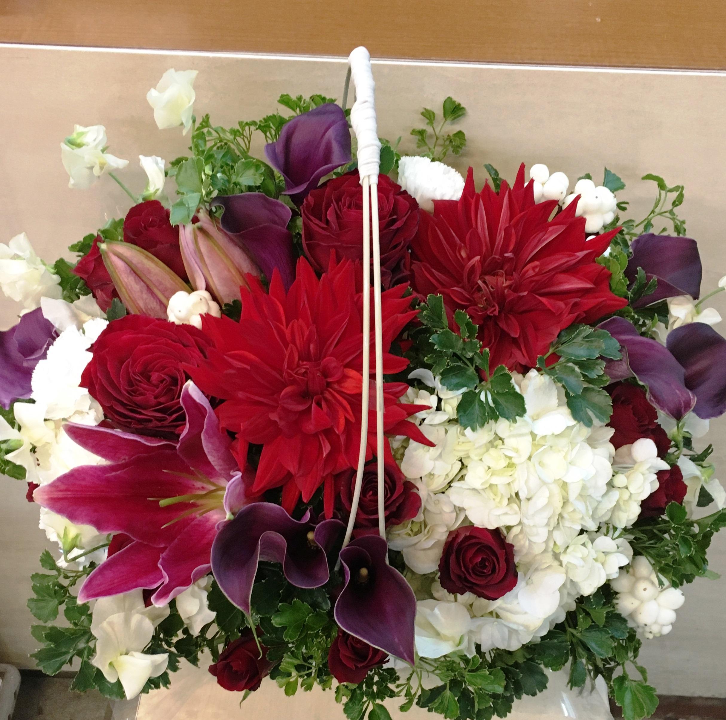 【ナオ花屋の納品事例188】横浜市関内尾上町の法人企業様へスタンド花を配達しました!
