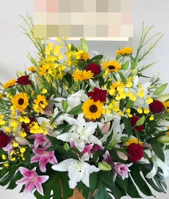 【ナオ花屋の納品事例199】横浜市関内ホールへスタンド花を配達しました!