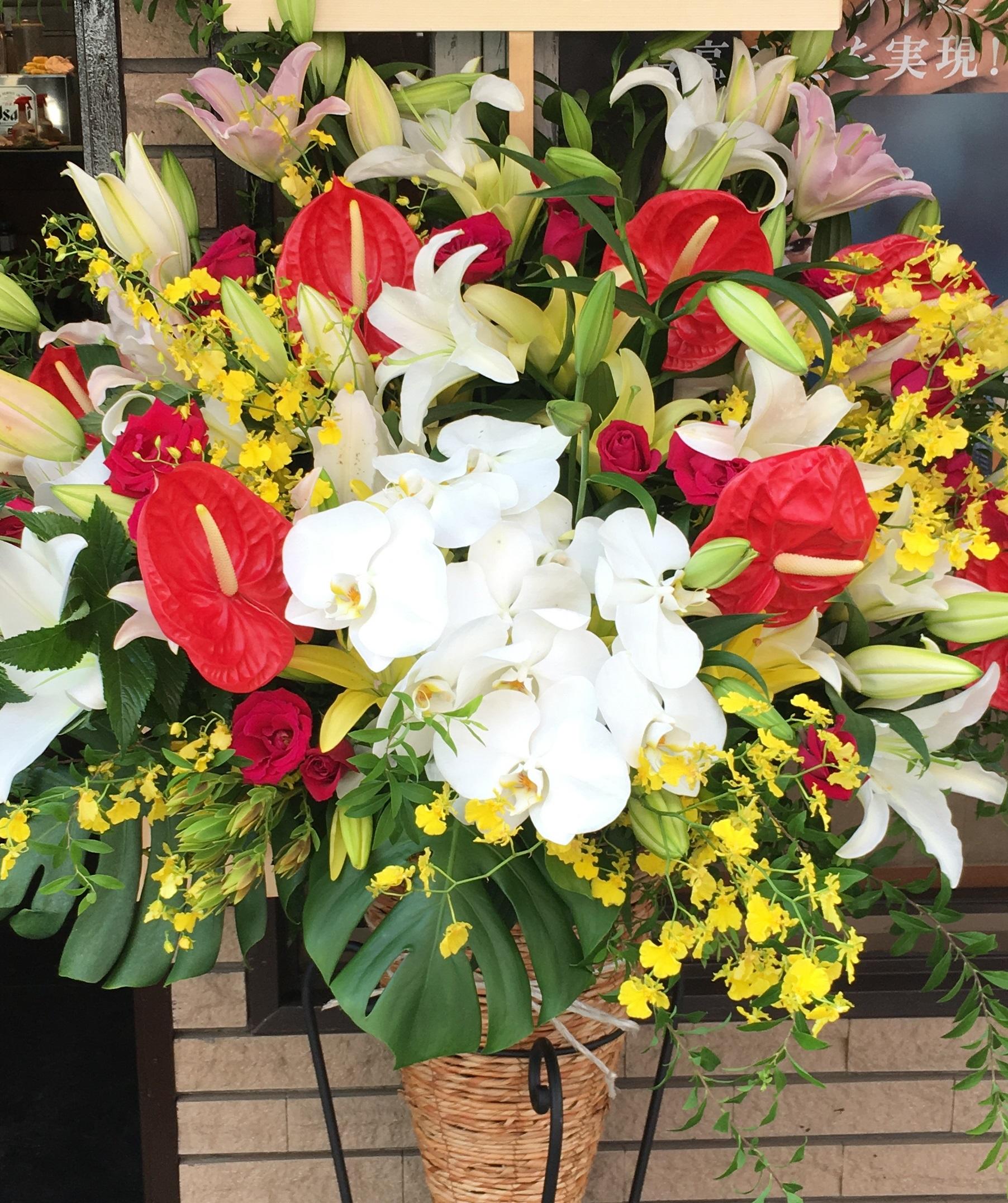 【ナオ花屋の納品事例214】横浜市関内尾上町へバルーンアレンジメントを即日当日配達しました!