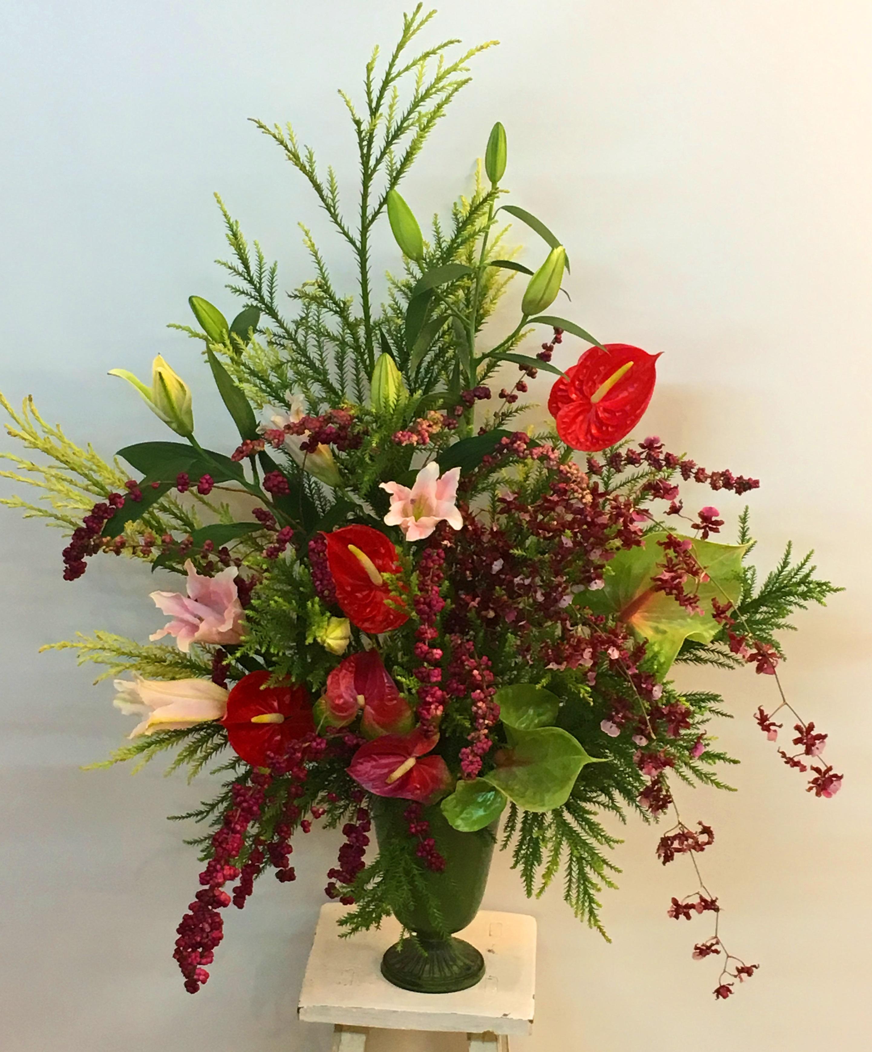 【ナオ花屋の納品事例206】横浜市関内の法人企業様へスタンド花を配達しました!