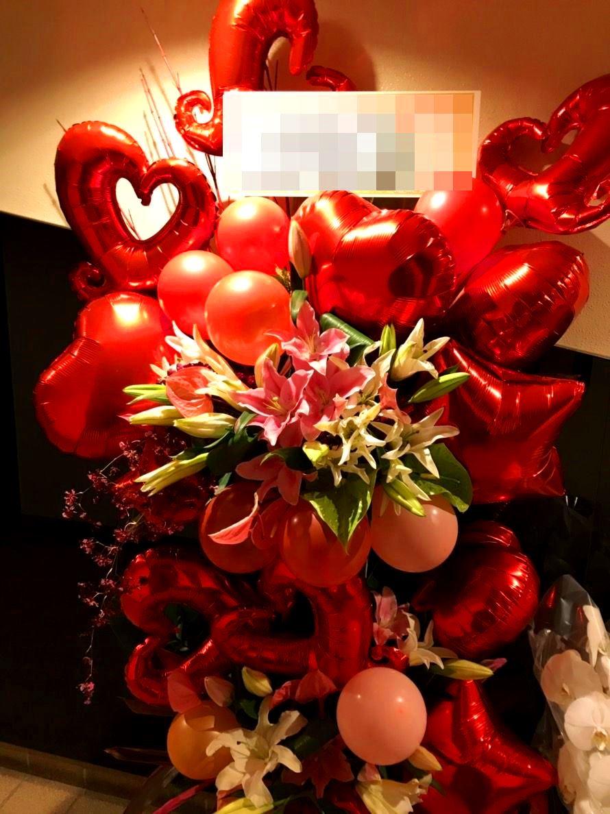 【ナオ花屋の納品事例216】横浜市関内へフラワーバルーンスタンドを即日当日配達しました!