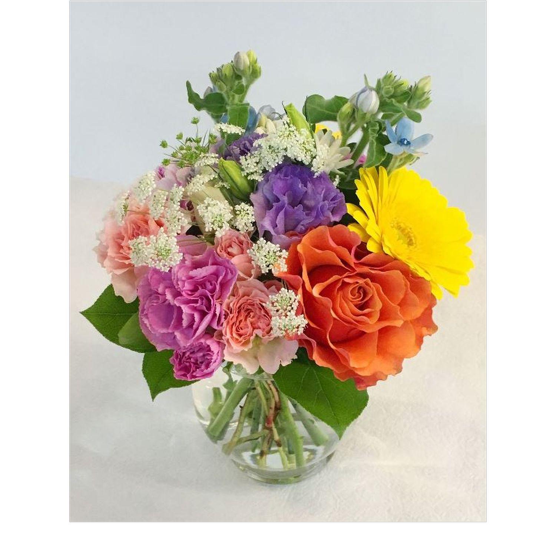 横浜市中区西区南区限定花瓶付き卓上花01