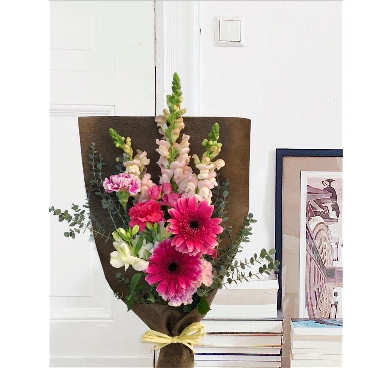 ベーシックピンク系花束
