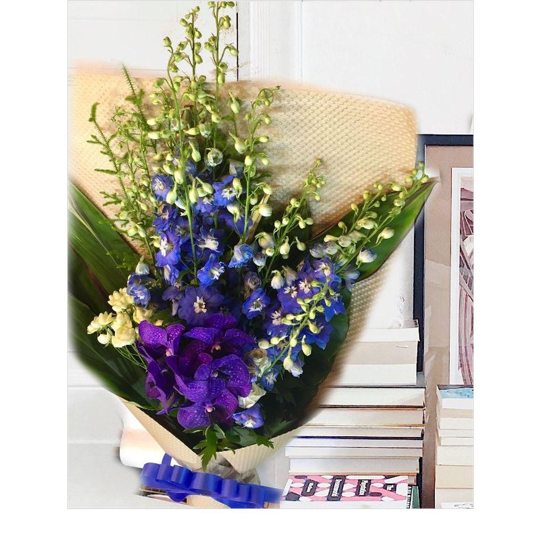 ハイグレード青・紫系花束