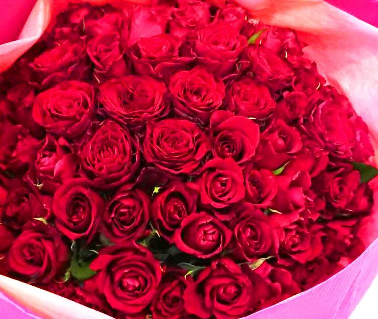 横浜市みなとみらいへバラの花束を即日当日配達しました!【横浜花屋の花束・スタンド花・胡蝶蘭・バルーン・アレンジメント配達事例445】