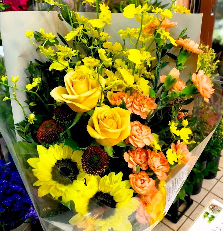 横浜市南幸へスタンド花を即日当日配達しました!【横浜花屋の花束・スタンド花・胡蝶蘭・バルーン・アレンジメント配達事例443】