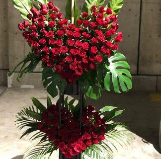 F.A.D横浜へオリジナル(オーダーメイド)スタンド花を配達しました!【横浜花屋の花束・スタンド花・胡蝶蘭・バルーン・アレンジメント配達事例472】