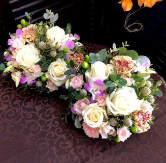 テーブル装花卓上花を配達しました。【横浜花屋の花束・スタンド花・胡蝶蘭・バルーン・アレンジメント配達事例501】