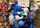 開業祝いのスタンド花をみなとみらいへ配達しました。【横浜花屋の花束・スタンド花・胡蝶蘭・バルーン・アレンジメント配達事例522】