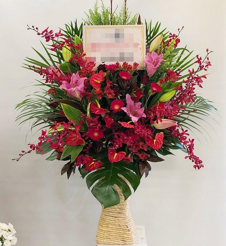 パシフィコ横浜へフラワーアレンジメントを配達しました。【横浜花屋の花束・スタンド花・胡蝶蘭・バルーン・アレンジメント配達事例556】