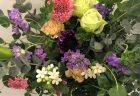 青系オーダーメイドスタンド花を配達しました。【横浜花屋の花束・スタンド花・胡蝶蘭・バルーン・アレンジメント配達事例573】
