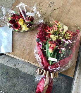 CM撮影現場へ花束と楽屋花を配達しました。【横浜花屋の花束・スタンド花・胡蝶蘭・バルーン・アレンジメント配達事例610】