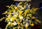 横浜市へおまかせ花束を即日当日配達させていただきました。【横浜花屋の花束・スタンド花・胡蝶蘭・バルーン・アレンジメント配達事例666】
