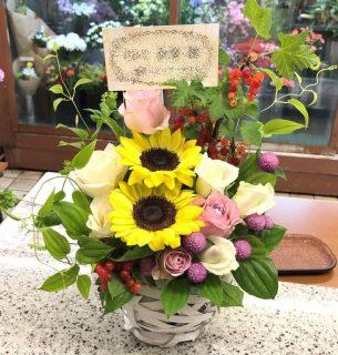 CM撮影現場へ楽屋花を配達しました。【横浜花屋の花束・スタンド花・胡蝶蘭・バルーン・アレンジメント配達事例694】