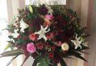横浜市関内へスタンド花を即日当日配達しました。【横浜花屋の花束・スタンド花・胡蝶蘭・バルーン・アレンジメント配達事例717】