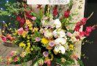 バラ250本の2基連結スタンド花を配達しました。【横浜花屋の花束・スタンド花・胡蝶蘭・バルーン・アレンジメント配達事例760】
