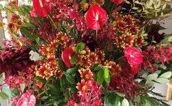 横浜市関内へスタンド花を即日当日配達しました。【横浜花屋の花束・スタンド花・胡蝶蘭・バルーン・アレンジメント配達事例808】