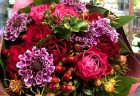 横浜市関内へバルーンスタンド花を即日当日配達しました。【横浜花屋の花束・スタンド花・胡蝶蘭・バルーン・アレンジメント配達事例813】
