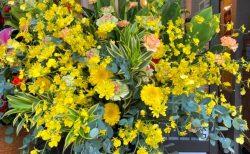 横浜市西区戸部へスタンド花を即日当日配達しました。【横浜花屋の花束・スタンド花・胡蝶蘭・バルーン・アレンジメント配達事例815】