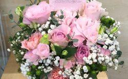 横浜市南区へフラワーアレンジメントを配達しました。【横浜花屋の花束・スタンド花・胡蝶蘭・バルーン・アレンジメント配達事例818】
