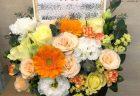 横浜市みなとみらいへバラ12本の花束を配達しました。【横浜花屋の花束・スタンド花・胡蝶蘭・バルーン・アレンジメント配達事例827】