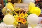 横浜市関内地域へ花束を即日当日配達しました。【横浜花屋の花束・スタンド花・胡蝶蘭・バルーン・アレンジメント配達事例842】