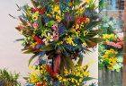 明けましておめでとうございます!【横浜花屋の花束・スタンド花・胡蝶蘭・バルーン・アレンジメント配達事例834】