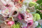 横浜市みなとみらいへ花束を即日当日配達しました。【横浜花屋の花束・スタンド花・胡蝶蘭・バルーン・アレンジメント配達事例839】