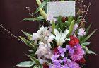 横浜市西区戸部へフラワーアレンジメントを即日当日配達しました。【横浜花屋の花束・スタンド花・胡蝶蘭・バルーン・アレンジメント配達事例857】