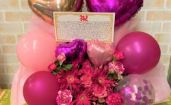 横浜市関内へバルーンアレンジメントを配達しました。【横浜花屋の花束・スタンド花・胡蝶蘭・バルーン・アレンジメント配達事例895】